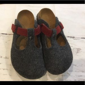 Birkenstock betula charcoal clog slip on new 7